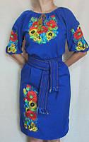 Вышитое женское платье