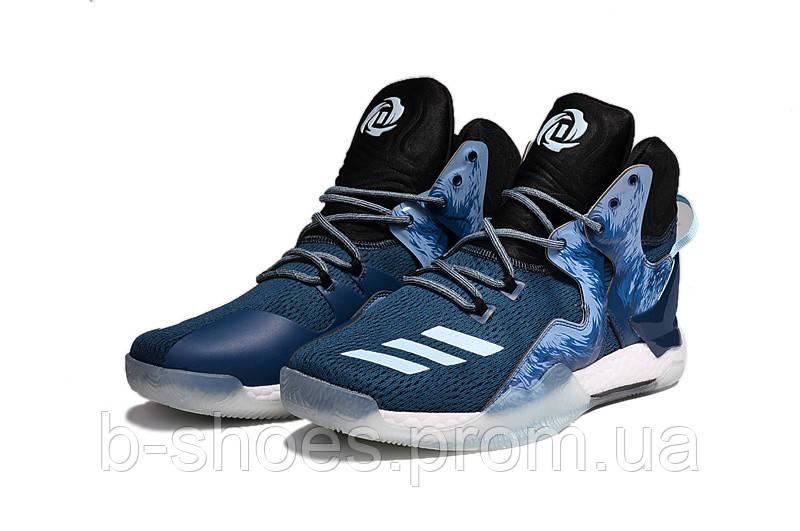 Мужские баскетбольные кроссовки Adidas Rose 7 (Blue)