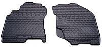 Резиновые передние коврики для Nissan X-Trail (T30) 2001-2007 (STINGRAY)