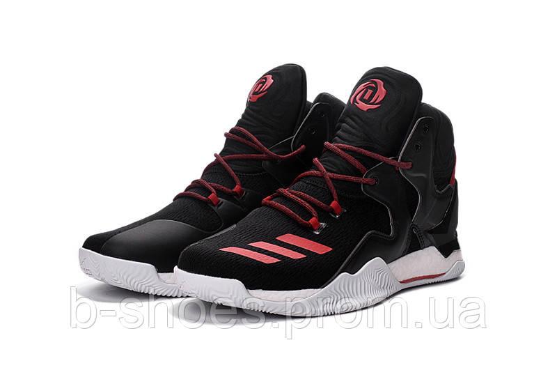 Мужские баскетбольные кроссовки Adidas Rose 7 (Black/Red)