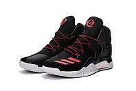 Мужские баскетбольные кроссовки Adidas Rose 7 (Black/Red)  , фото 1