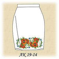 Заготовка женской юбки для вышивания АК 19-14 габардин, белый