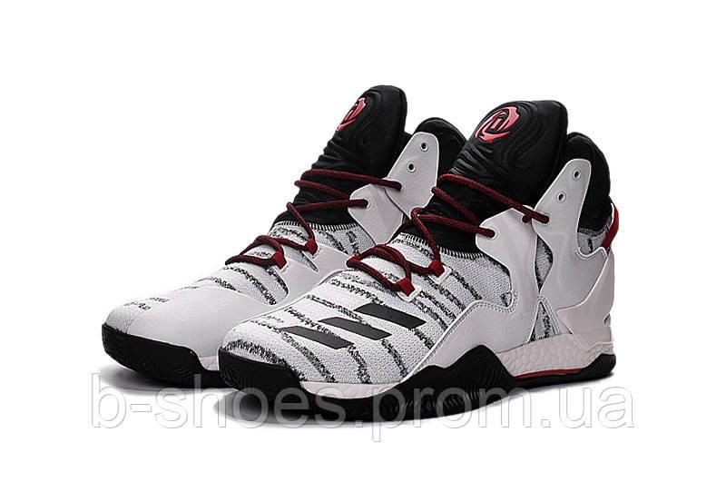 Мужские баскетбольные кроссовки Adidas Rose 7 (White/Black/Red)