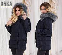 Куртка женская зимняя на холлофайбере с капюшоном P5094