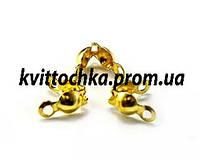 Калотты (концевики) золото 1,5 см.
