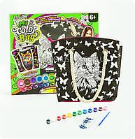 Сумка раскраска My Color Bag Кот 32х37 см (COB-01-05)
