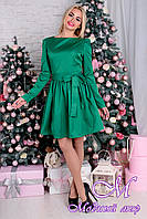 Нарядное женское платье зеленого цвета 77315 (р. M, L) арт. 8289