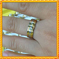 Кольца Обручальные под Золото из Нержавеющей стали, Кольцо Помолвочное под Белое Золото с Фианитом