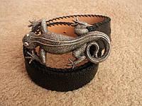 Ремень пояс кожа скат Reptiles House RAZZA ( ITALY )  НОВОЕ