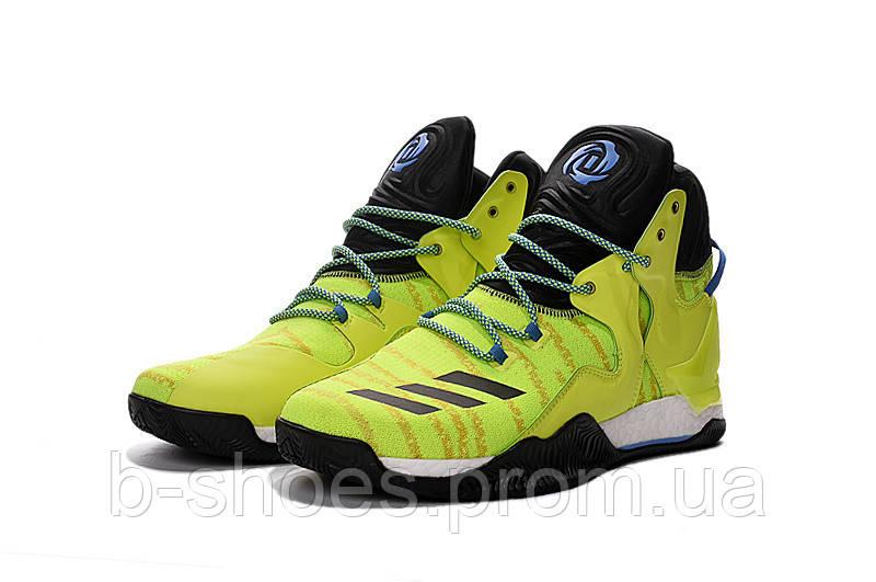 Мужские баскетбольные кроссовки Adidas Rose 7 (Yellow/Black)