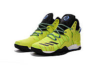 Мужские баскетбольные кроссовки Adidas Rose 7 (Yellow/Black)  , фото 1