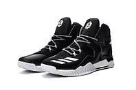 Мужские баскетбольные кроссовки Adidas Rose 7 (Black/White)  , фото 1
