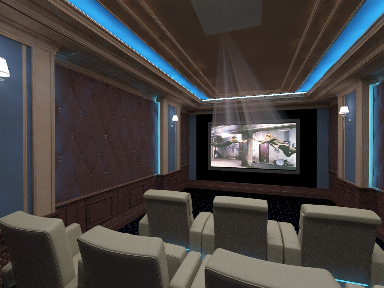 Дизайн домашнього кінотеатру. Дизайн кінозалу.