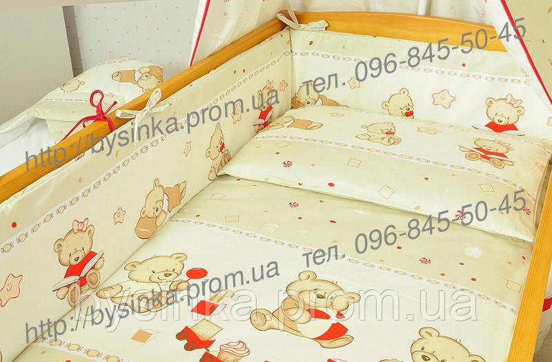 """Постельный набор в кроватку из 3-ед- """"Мишки игрушки"""""""