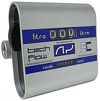 Механический счетчик расхода дизельного топлива, масла Tech-Flow 3C, 20-120 л/мин