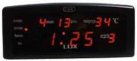 Часы настольные LED (ЖК-дисплей) LUX 868-1, электронные, красное свечение  XKC /58-7
