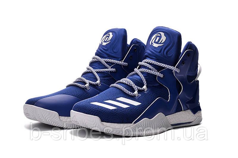 Мужские баскетбольные кроссовки Adidas Rose 7 (Blue/White)