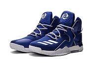 Мужские баскетбольные кроссовки Adidas Rose 7 (Blue/White)  , фото 1