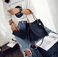 Большая сумка мешок и клатч, набор 2в1. Стильный комплект. Доступная цена. Хорошее качество. Код: КГ119