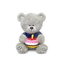 Мягкая игрушка «LAVA» (LA8786K) медвежонок Ники с тортом, 21,5 см (звук. эффекты)