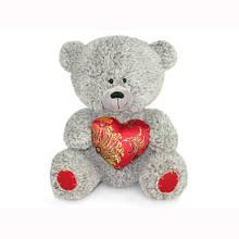 Мягкая игрушка «LAVA» (LA8383W) медвежонок с парчовым сердцем, 21 см (звук. эффекты)