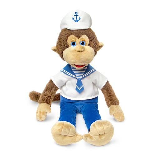 Мягкая игрушка «LAVA» (LA8825) обезьянка в матроске, 25 см (звук. эффекты)