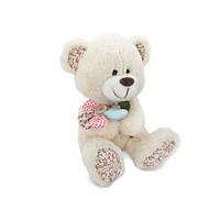 Мягкая игрушка «LAVA» (LF1144) медвежонок с декоративным цветком, 22 см (звук. эффекты)