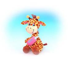 Мягкая игрушка «LAVA» (LA8281A) жираф с бутылочкой, 27 см (звук. эффекты)