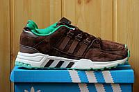 Мужские кроссовки Adidas Equipment натуральная замша, коричневые / кроссовки мужские Адидас эквипмен, стильные