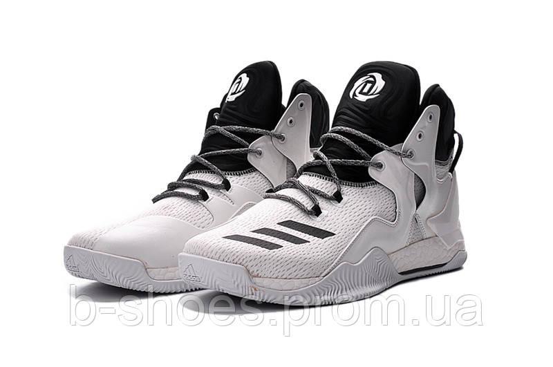 Мужские баскетбольные кроссовки Adidas Rose 7 (White/Black)