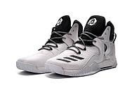 Мужские баскетбольные кроссовки Adidas Rose 7 (White/Black)  , фото 1