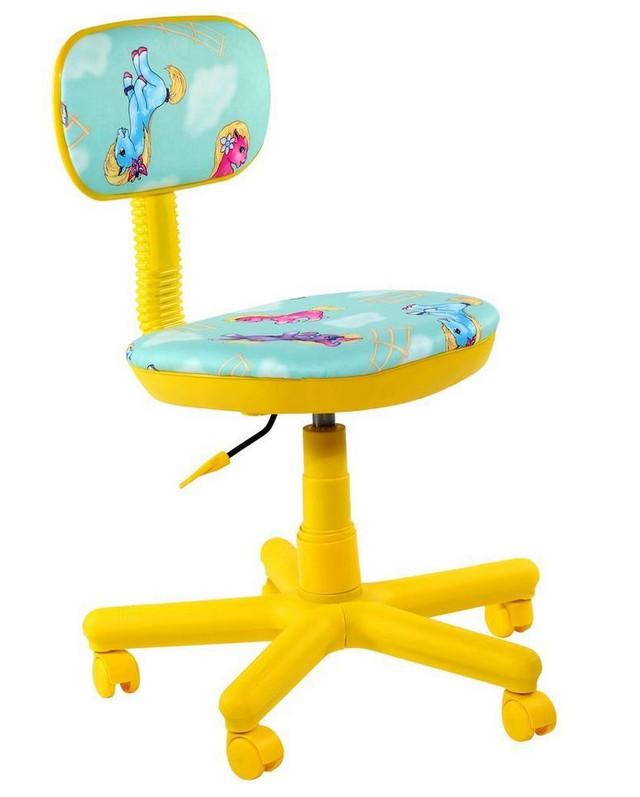 Кресло Свити жёлтый Пони бирюзовый.