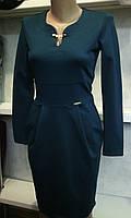 Платье теплое нарядное с карманами