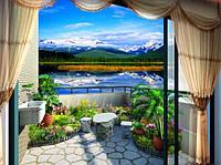 Алмазная мозаика Прекрасный вид с террасы 40*30 см (арт. FS348) , фото 1