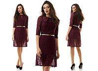 Гипюровое платье с поясом