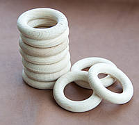Деревянные кольца для слингобус и грызунков, 40 мм, набор 10 шт.