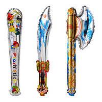 Шарики надувные фольгированные, меч, 3 вида, 78см, цена за уп. в уп. 20 шт.