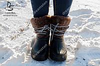 Женские зимние сапоги серые ( Код : М-17)