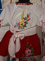Вышитый детский костюм с юбкой