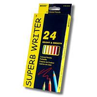 Карандаши  24 цвета шестигранные, Superb Writer,  Marco