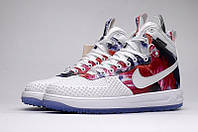 Кроссовки  NIKE LUNAR FORCE 1 DUCKBOOT (White/Red), фото 1