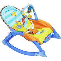 Детский шезлонг качалка JOY 7179 от рождения и до 18 кг