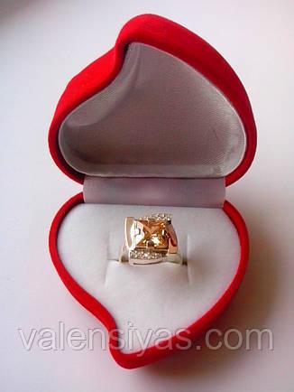 Футляр для кольца красного цвета сердце с розой, фото 2