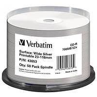 Диск CD-R 50 шт. Verbatim, 700Mb, 52x, Printable