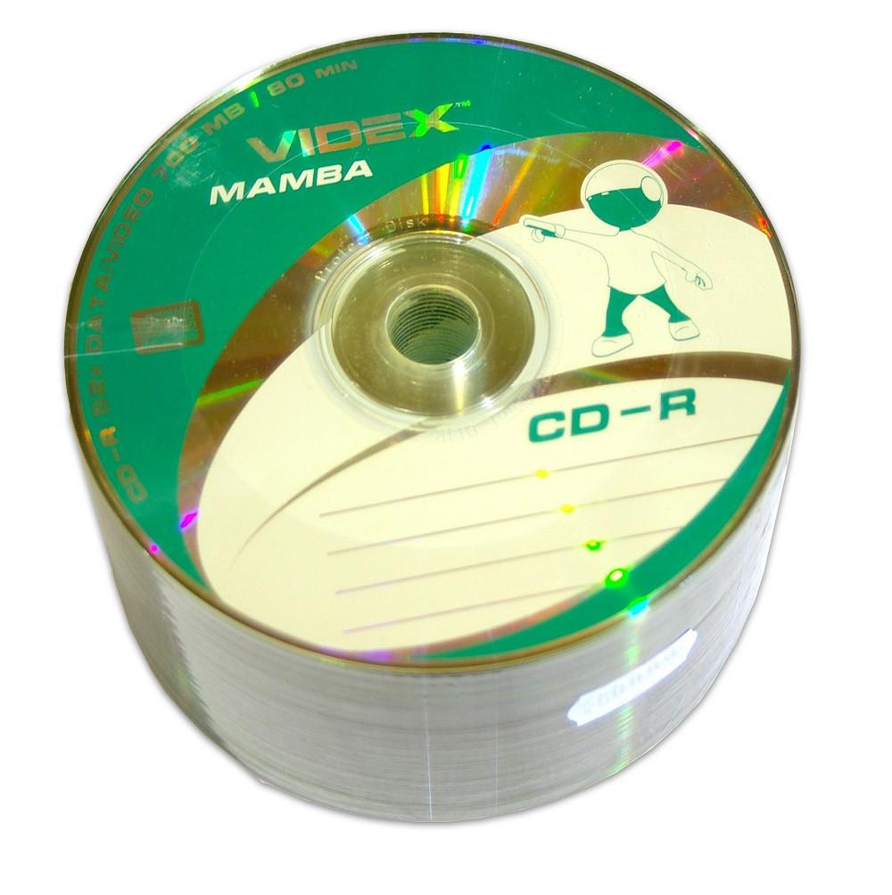 Диск CD-R 50 шт. Videx Mamba, 700Mb, 52x