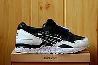 Мужские кроссовки Asics gel lyte, кожаные, черно белые / кроссовки мужские Асикс, модные