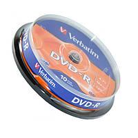 Диск DVD-R 10 шт. Verbatim, 4.7Gb, 16x