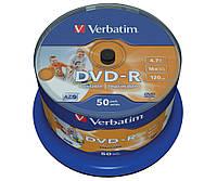 Диск DVD-R 50 шт. Verbatim, 4.7Gb, 16x, Printable