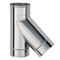 Нержавеющая сталь тройник дымохода (45 градусов), толщина 0.8 мм, D=350