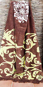 Плед Lotus - Saray хлопок коричневый 200*220
